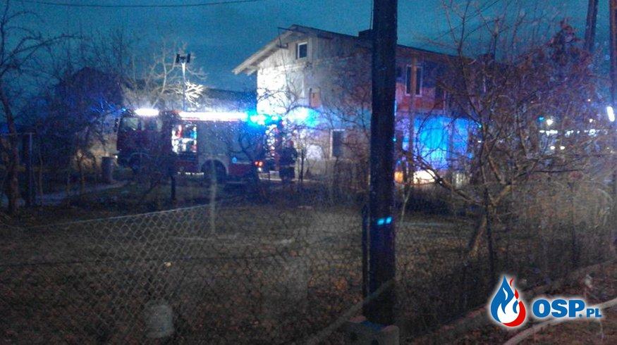 28.01.2016 - pożar budynków gospodarczych w Rynakowicach OSP Ochotnicza Straż Pożarna