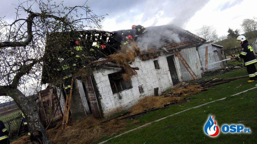 Pożar oboro-stodoły w Wielki Piątek OSP Ochotnicza Straż Pożarna