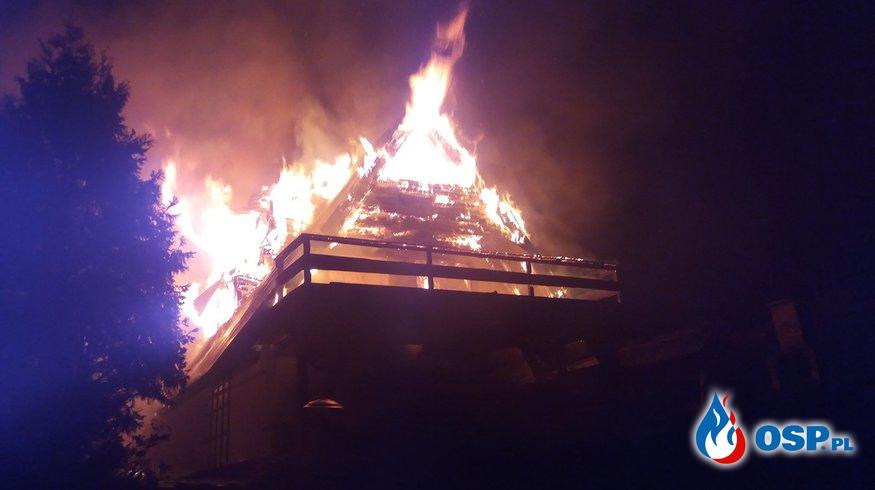 Pożar całorocznego budynku letniskowego  w Sile OSP Ochotnicza Straż Pożarna