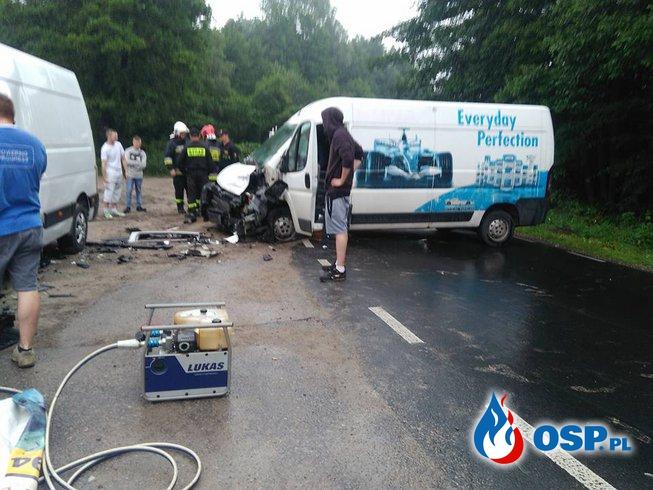 Nadmierna prędkość i zderzenie OSP Ochotnicza Straż Pożarna