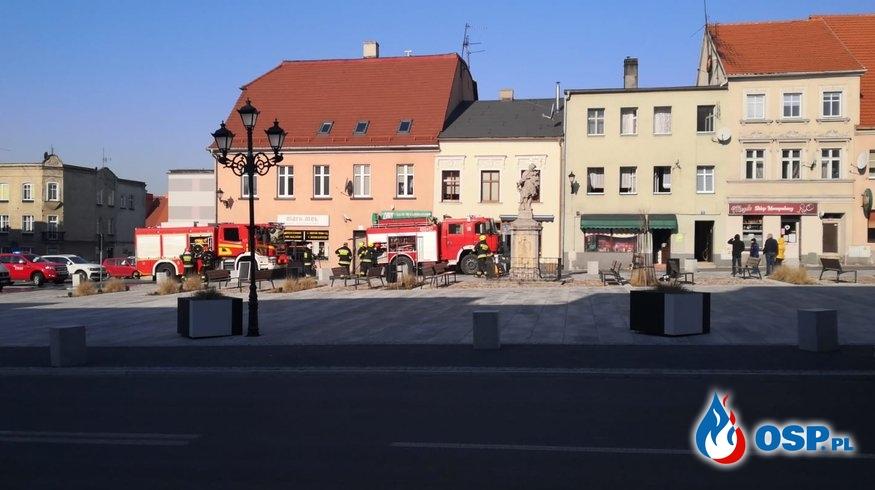 Pożar przewodu kominowego w Białej oraz pożar sklepu na rynku w Białej. OSP Ochotnicza Straż Pożarna
