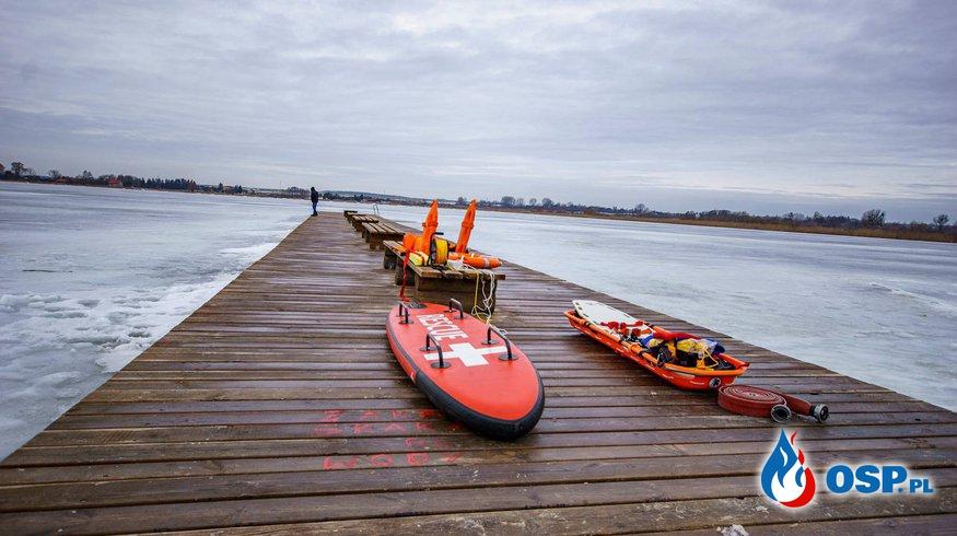 Szkolenie z ratownictwa wodnego w warunkach zimowych OSP Ochotnicza Straż Pożarna