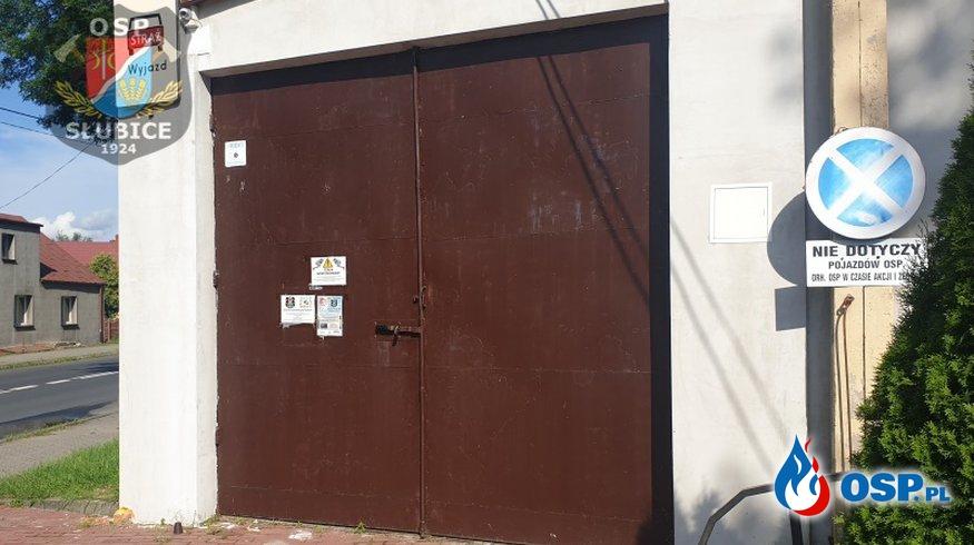 Jest szansa na wymianę bramy garażowej – prośba o wsparcie OSP Ochotnicza Straż Pożarna