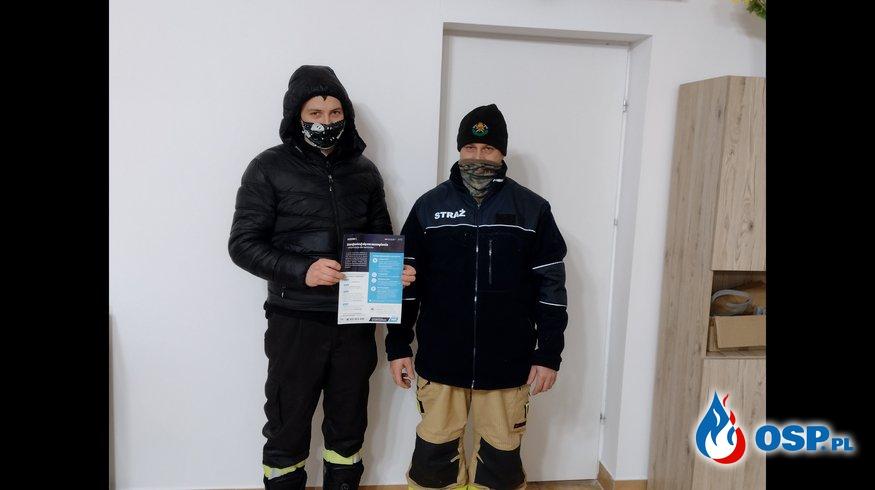 Covid-19 ROZNOSZENIE ULOTEK OSP Ochotnicza Straż Pożarna