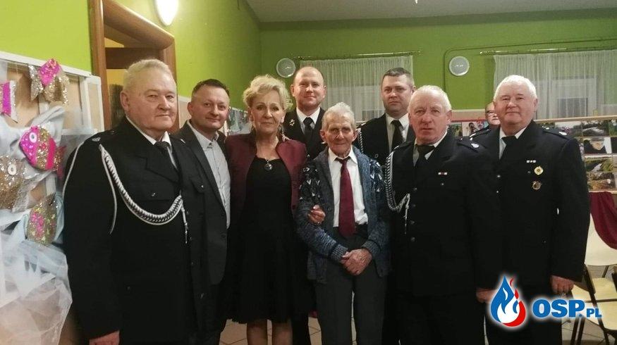 Jubileusz 90-lecia urodzin druha Edmunda Kajetanek OSP Ochotnicza Straż Pożarna