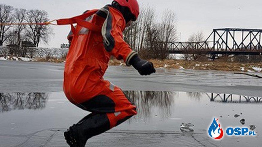 Ćwiczenia z zakresu ratownictwa lodowego OSP Ochotnicza Straż Pożarna