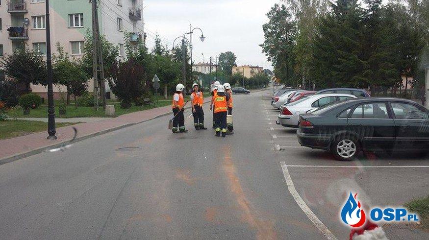 2 plamy oleju w ciągu dnia - Iłża, Białka OSP Ochotnicza Straż Pożarna