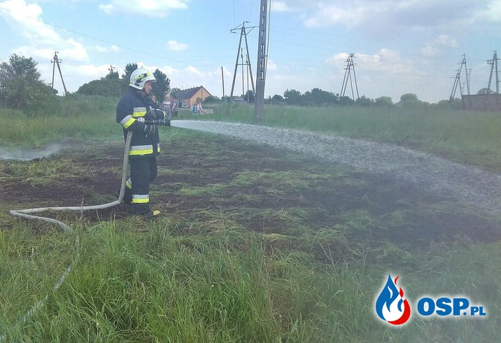 Pożar trawy - Suszewo OSP Ochotnicza Straż Pożarna