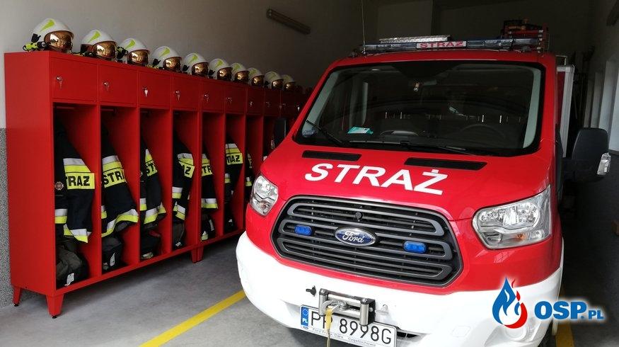 Nowe szafki w Naszej remizie OSP Ochotnicza Straż Pożarna