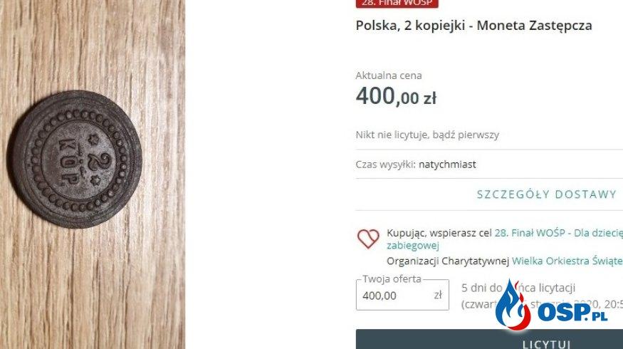 Kup monetę – wesprzyj WOŚP! OSP Ochotnicza Straż Pożarna