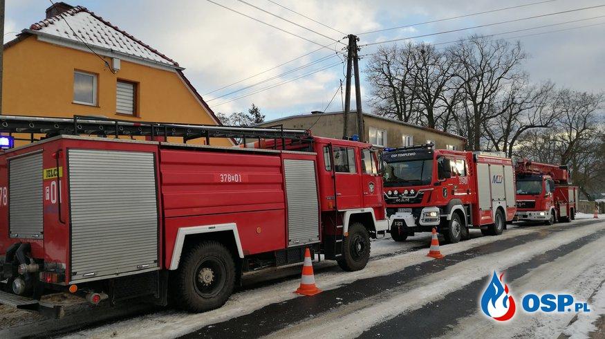 POZAR KOMINA OSP Ochotnicza Straż Pożarna