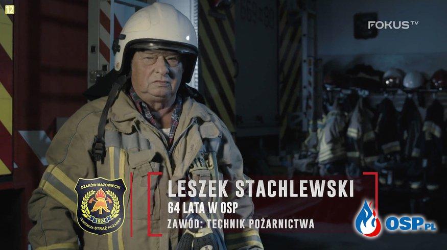 """Leszek Stachlewski służy w OSP ponad 60 lat! """"Nie da się żyć bez straży."""" OSP Ochotnicza Straż Pożarna"""