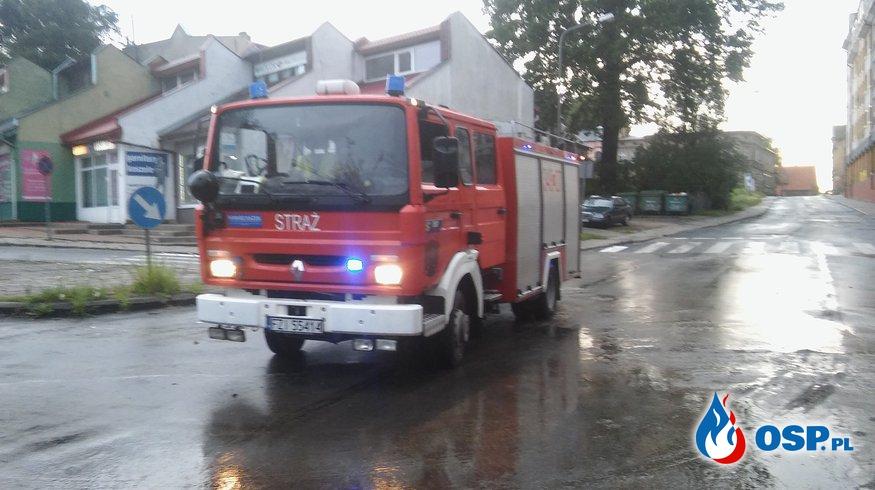 Duże opady deszczu w Zielonej Górze OSP Ochotnicza Straż Pożarna