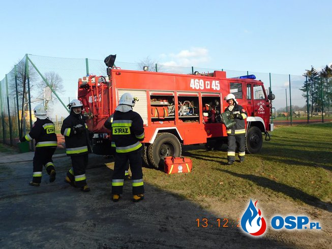 Ulatniający się gaz w ZS Laski OSP Ochotnicza Straż Pożarna