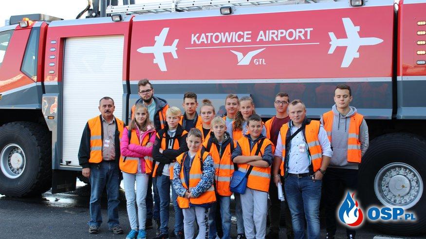 Wizyta w Lotniskowej Straży Pożarnej w Katowice - Pyrzowice.  OSP Ochotnicza Straż Pożarna