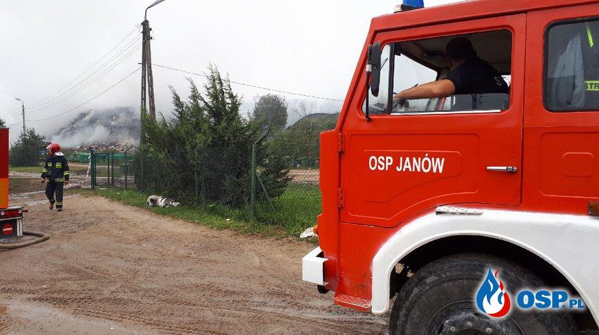 Pożar wysypiska śmieci w Studziankach OSP Ochotnicza Straż Pożarna