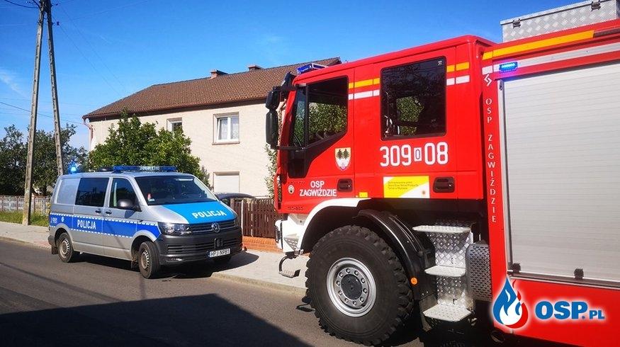 Otwarcie mieszkania w miejscowości Zagwiździe OSP Ochotnicza Straż Pożarna