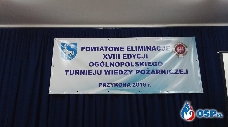 Powiatowe eliminacje XVIII edycji Ogólnopolskiego Turnieju Wiedzy Pożarniczej OSP Ochotnicza Straż Pożarna