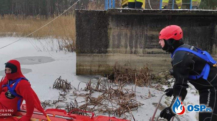 Coroczne ćwiczenia doskonalające na lodzie OSP Ochotnicza Straż Pożarna