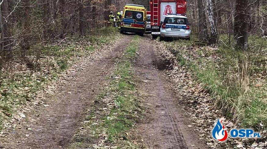 Powalone drzewo , Wypadek OSP Ochotnicza Straż Pożarna