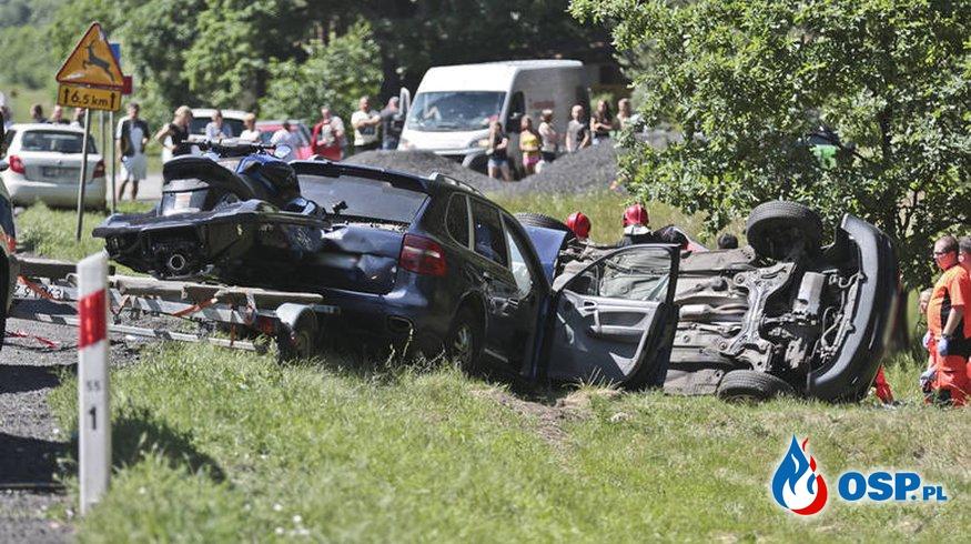 Tragiczny wypadek na trasie nr 32 OSP Ochotnicza Straż Pożarna