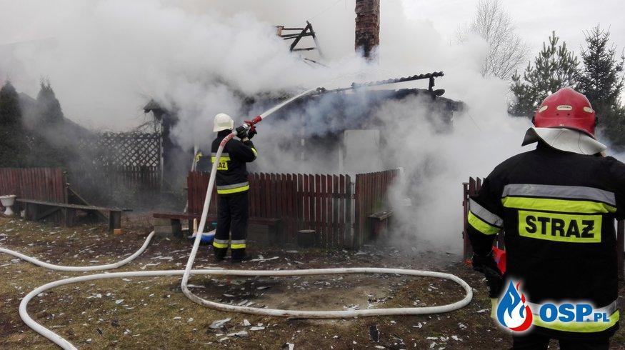 Pożar domu w Piątkowiznie - OSP Lipniki OSP Ochotnicza Straż Pożarna