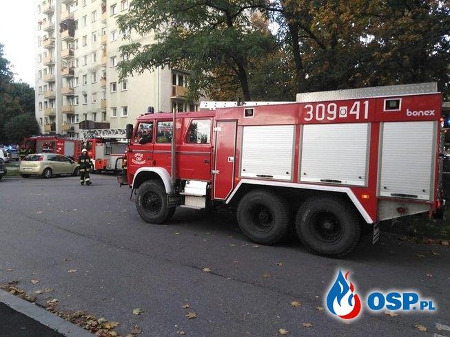 Pożar mieszkania - pozostawiona potrawa na kuchence OSP Ochotnicza Straż Pożarna
