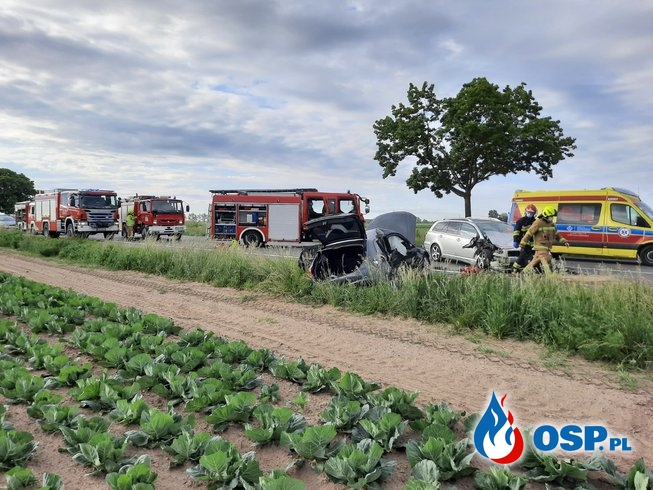 7 osób poszkodowanych w wypadku na DK 11 OSP Ochotnicza Straż Pożarna