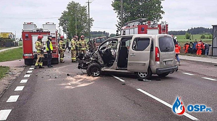 6 dzieci i 2 dorosłych w szpitalu po wypadku na Podlasiu OSP Ochotnicza Straż Pożarna
