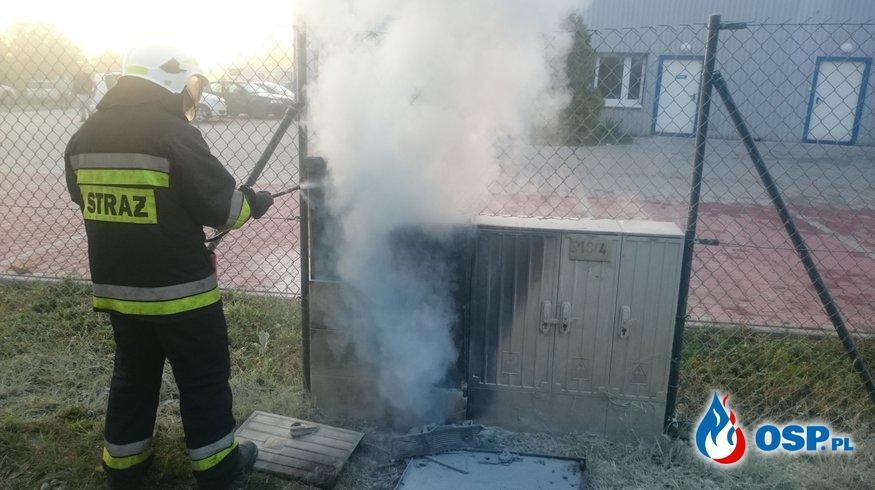 POŻAR SKRZYNKI ENERGETYCZNEJ OSP Ochotnicza Straż Pożarna