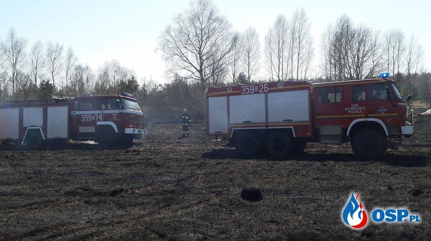 Pożar traw Wanaty ul. Warszawska. 07.04.2018r OSP Ochotnicza Straż Pożarna