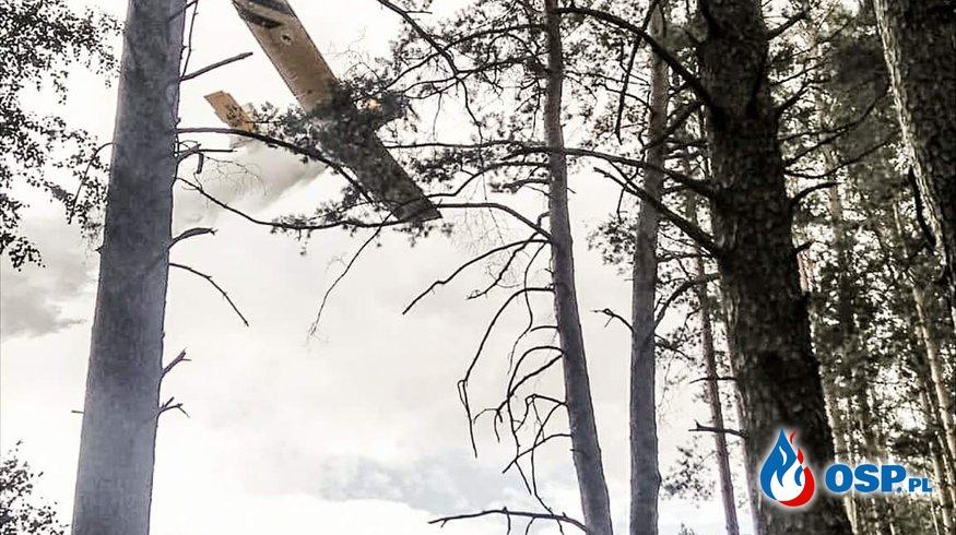 Osiecko - Pożar w akcji samolot! OSP Ochotnicza Straż Pożarna