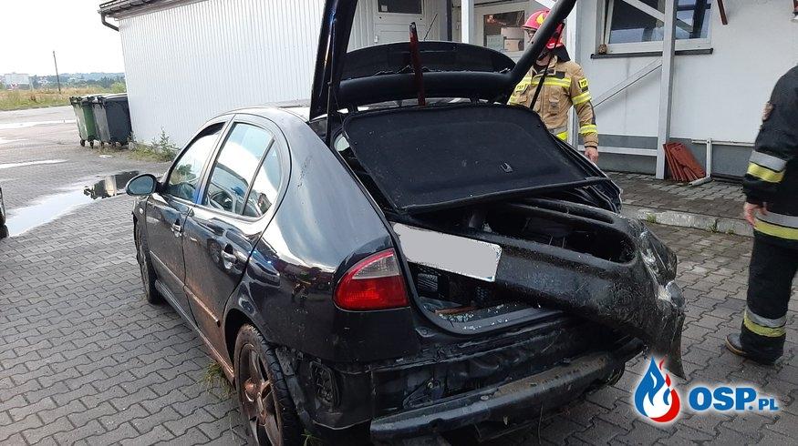 Kolizja samochodu osobowego obok stacji paliw BP - 2 lipca 2020r. OSP Ochotnicza Straż Pożarna