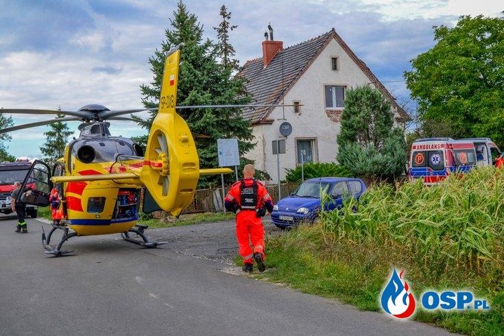 """Tragiczny wypadek motocyklisty. """"Doczołgał się do zabudowań i zmarł"""". OSP Ochotnicza Straż Pożarna"""