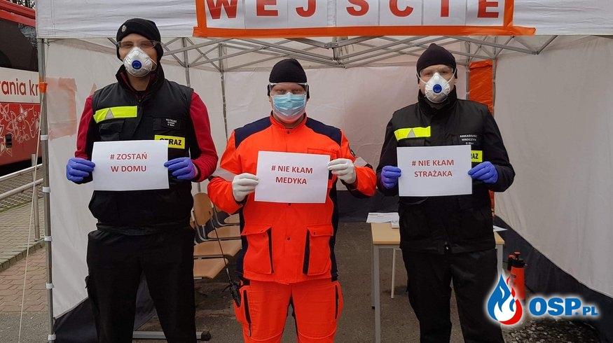 Walczymy z koronawirusem #zostanwdomu OSP Ochotnicza Straż Pożarna