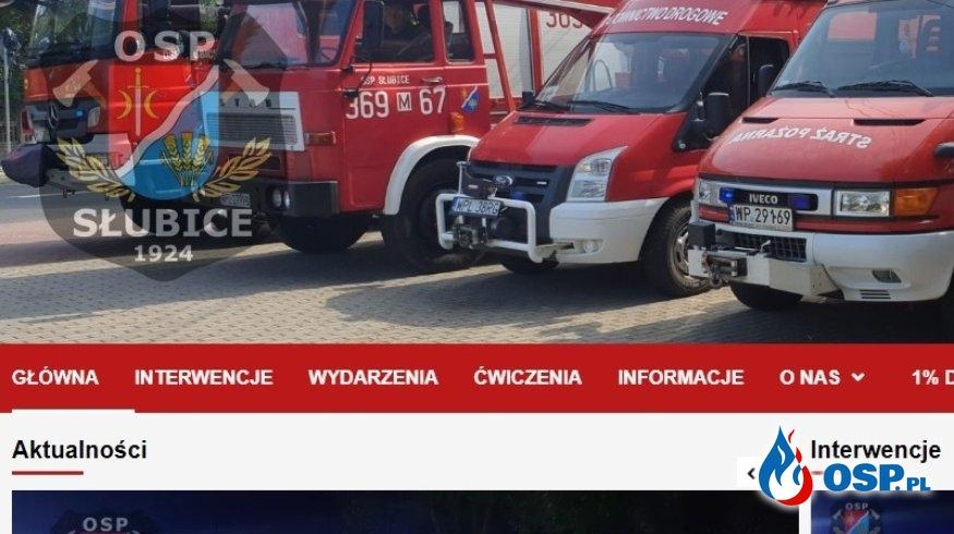 Strona wraca po awarii! OSP Ochotnicza Straż Pożarna