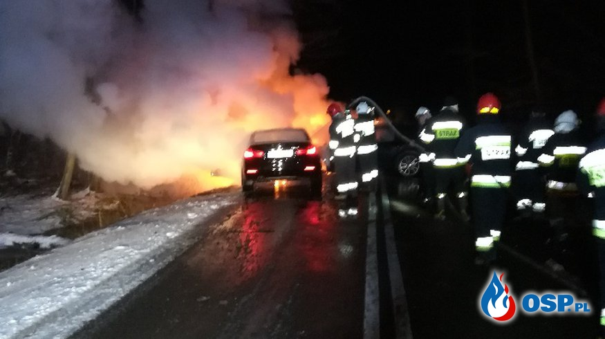 Groźne zdarzenie w gminie Poświętne OSP Ochotnicza Straż Pożarna