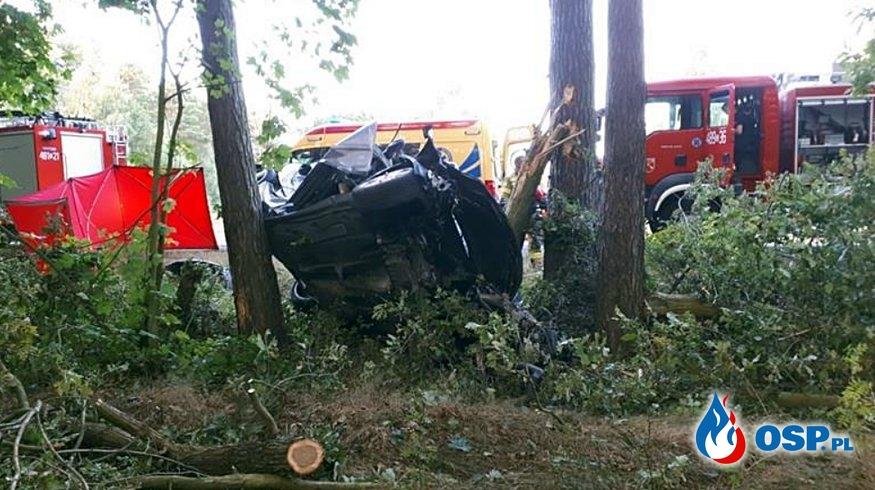 4 młode osoby zginęły w makabrycznym wypadku pod Strzelnem OSP Ochotnicza Straż Pożarna