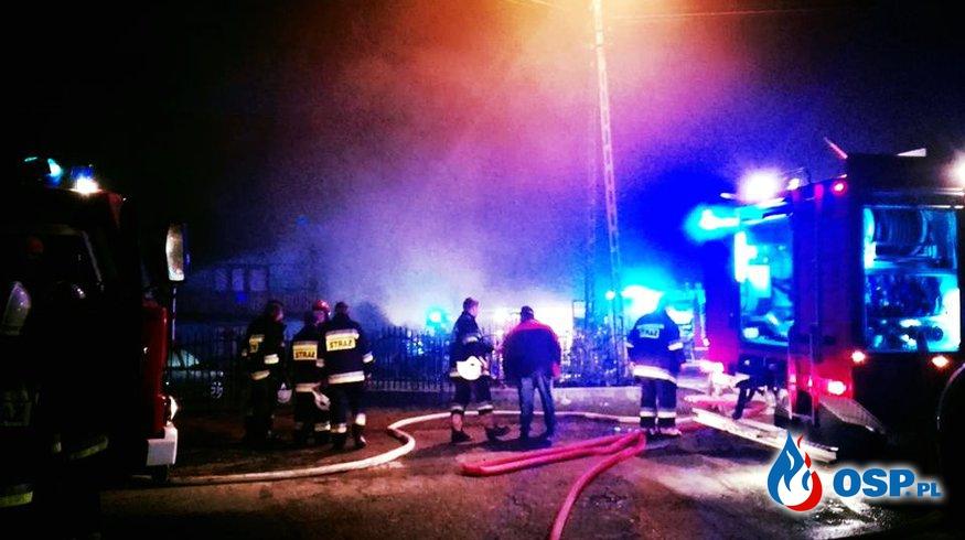 Pożar stodoły w Bielawach OSP Ochotnicza Straż Pożarna