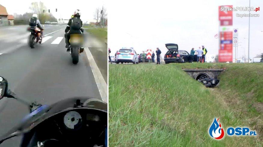 Śmierć 20-letniego motocyklisty. Policja opublikowała film z momentu wypadku. OSP Ochotnicza Straż Pożarna