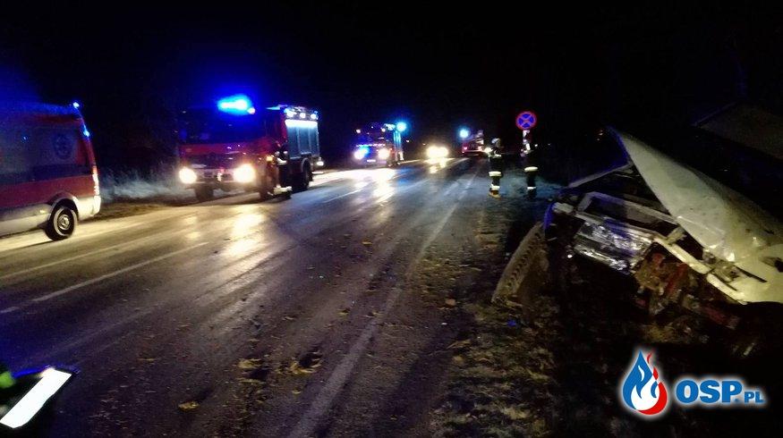Wypadek busa w Rzeszotarach OSP Ochotnicza Straż Pożarna