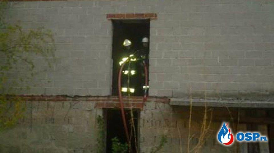 pożar pustostanu - ul. Leśmiana OSP Ochotnicza Straż Pożarna