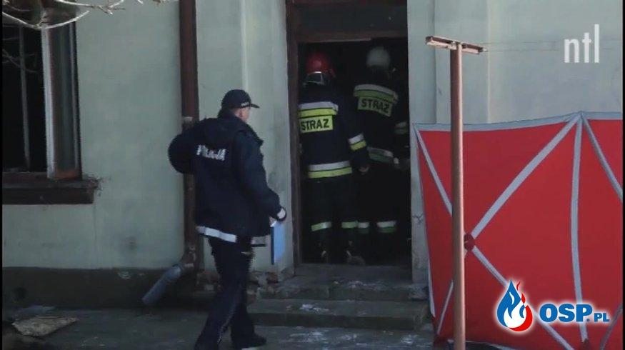 Tragiczny pożar w Moszczenicy. Nie żyje dwóch mężczyzn. OSP Ochotnicza Straż Pożarna