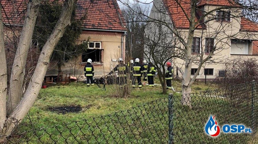 Pożar domu ze skutkiem śmiertelnym w miejscowości Kłaj OSP Ochotnicza Straż Pożarna