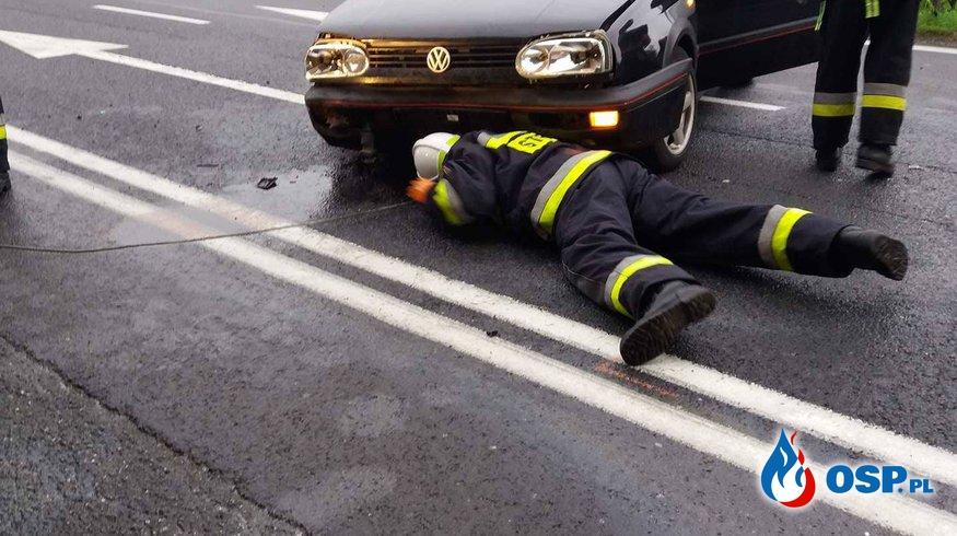 Wypadek na DK8. OSP Ochotnicza Straż Pożarna