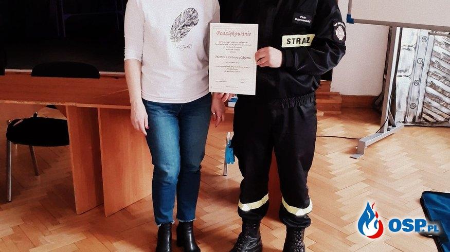 06.03.2020 - Zajęcia z Pierwszej Pomocy OSP Ochotnicza Straż Pożarna