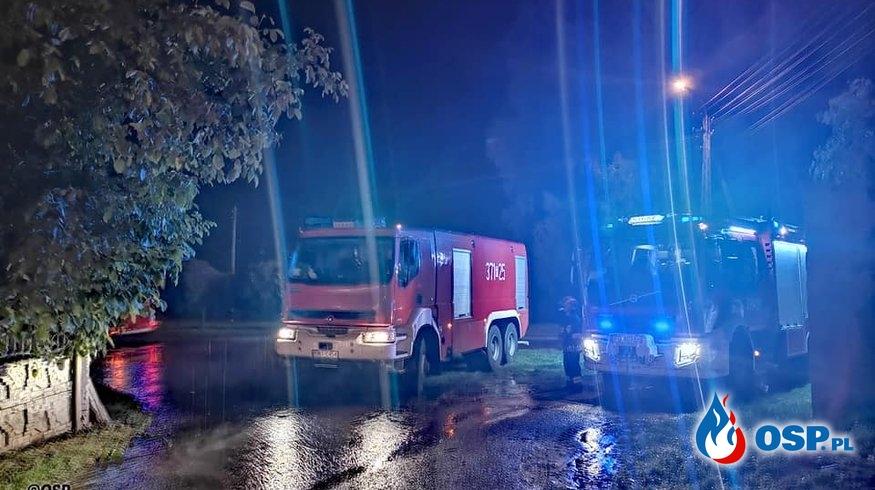 Goruńsko - pożar wybuchł ponownie... OSP Ochotnicza Straż Pożarna