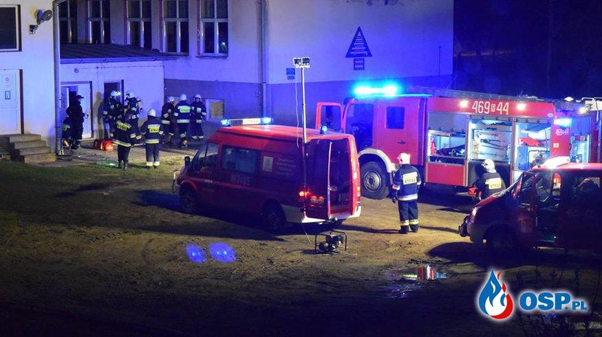 Pożar schroniska w Myczkowie OSP Ochotnicza Straż Pożarna