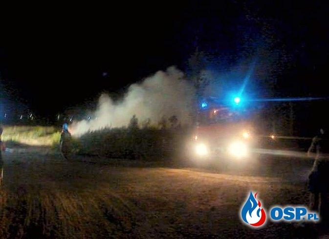 Pożar sterty obornika OSP Ochotnicza Straż Pożarna