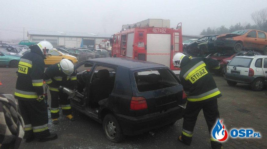 Ćwiczenia z ratownictwa technicznego OSP Ochotnicza Straż Pożarna